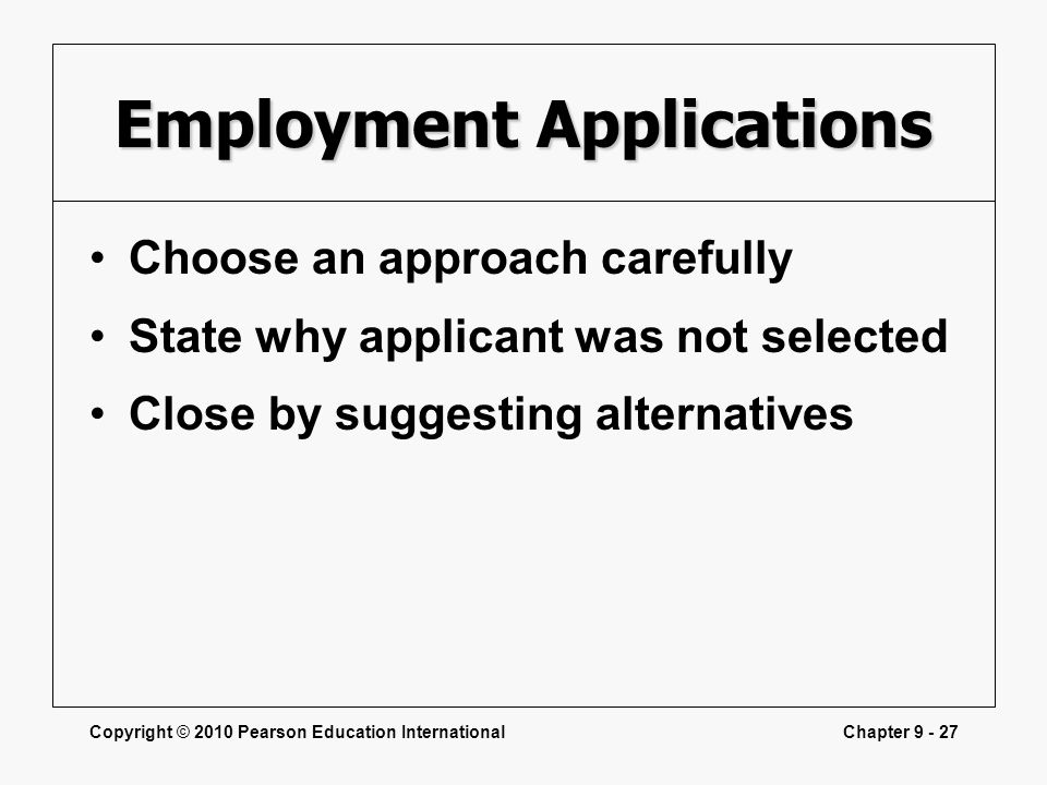 Employment Applications
