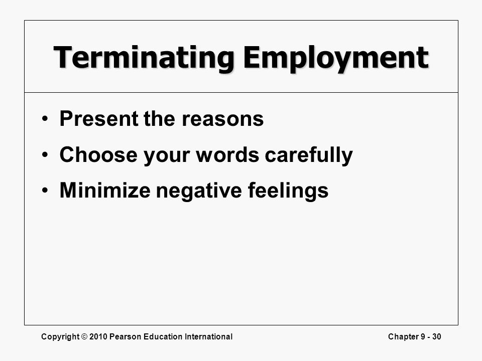 Terminating Employment