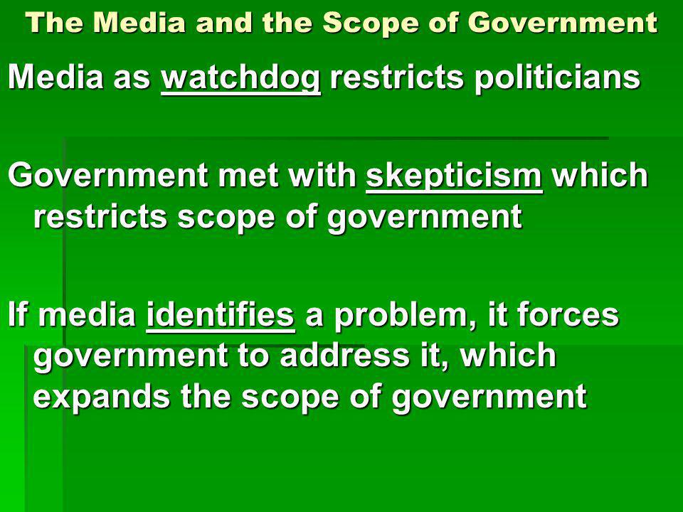 The Media and the Scope of Government