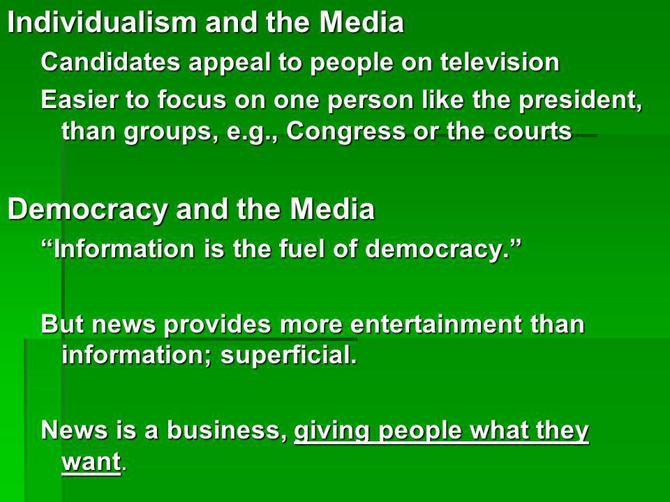Individualism and the Media