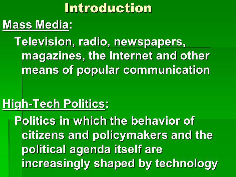 Introduction Mass Media:
