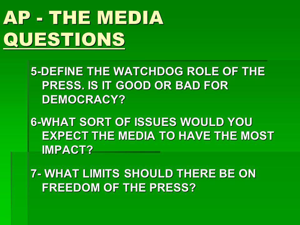 AP - THE MEDIA QUESTIONS