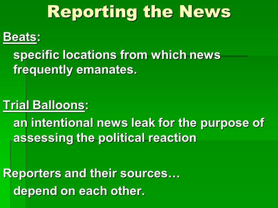 Reporting the News Beats: