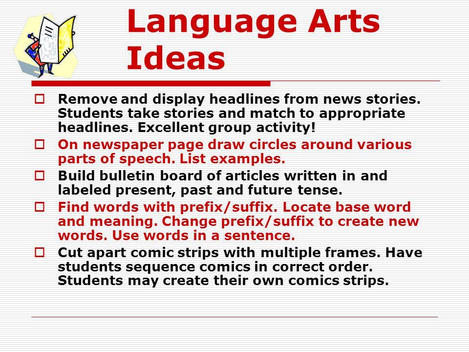 Language Arts Ideas