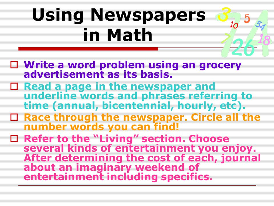 Using Newspapers in Math
