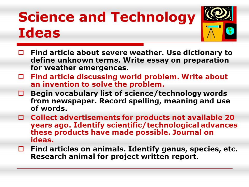 Science and Technology Ideas