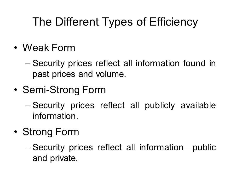 The Different Types of Efficiency
