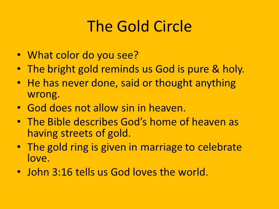 The Gold Circle What color do you see