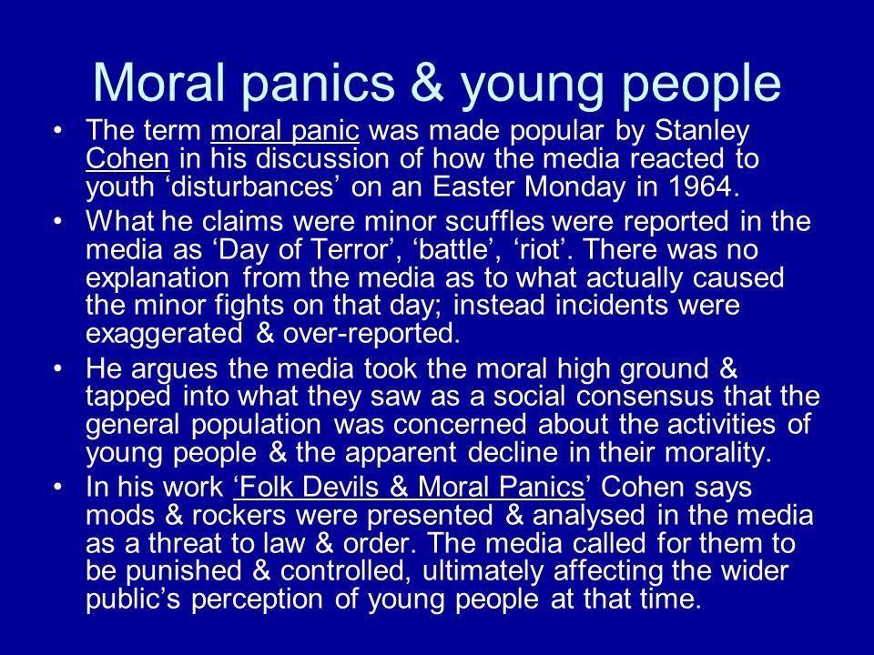 Moral panics & young people