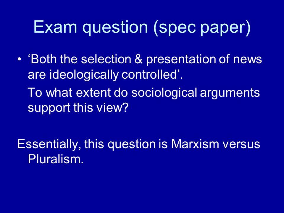 Exam question (spec paper)