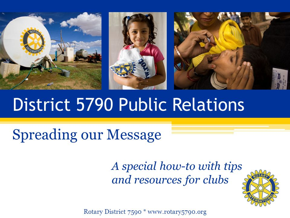 District 5790 Public Relations