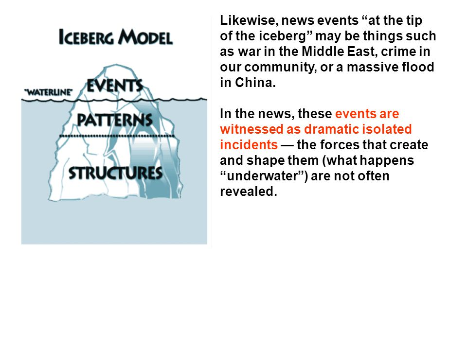 Likewise, news events at the tip