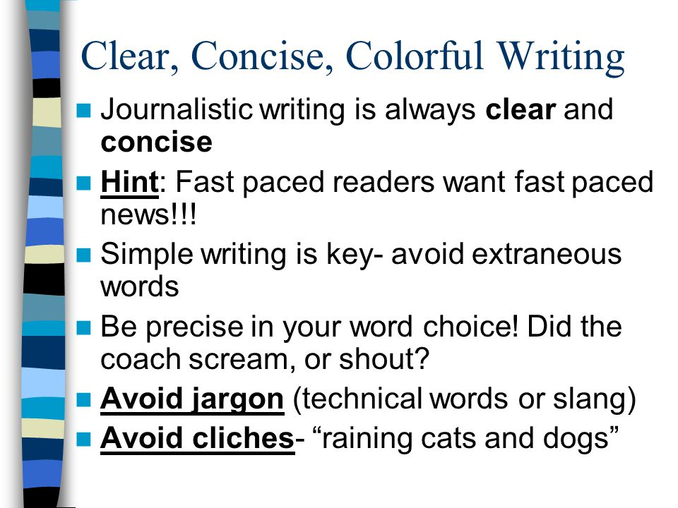 Clear, Concise, Colorful Writing