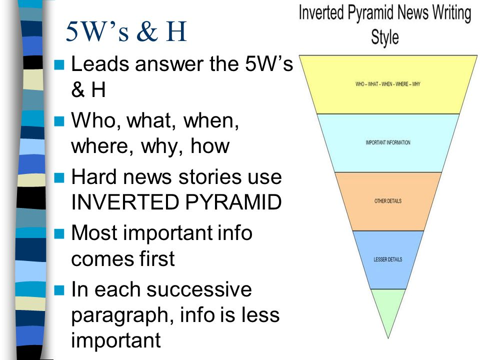 5W's & H Leads answer the 5W's & H Who, what, when, where, why, how