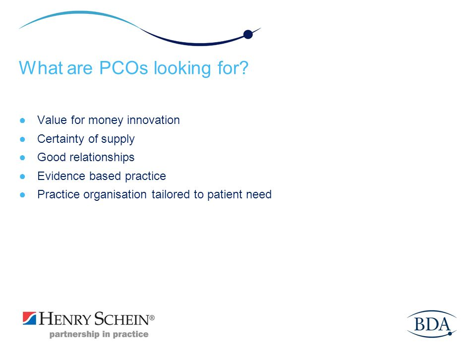 What are PCOs looking for