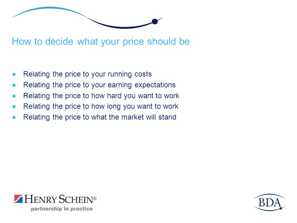 How to decide what your price should be