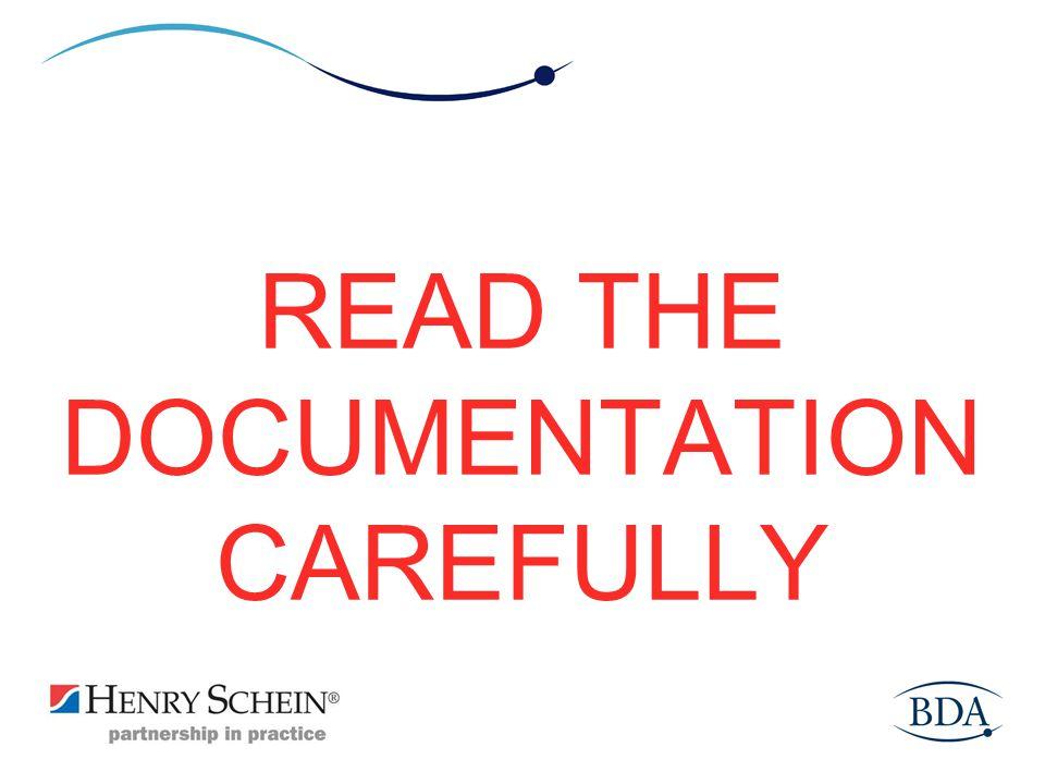 READ THE DOCUMENTATION CAREFULLY