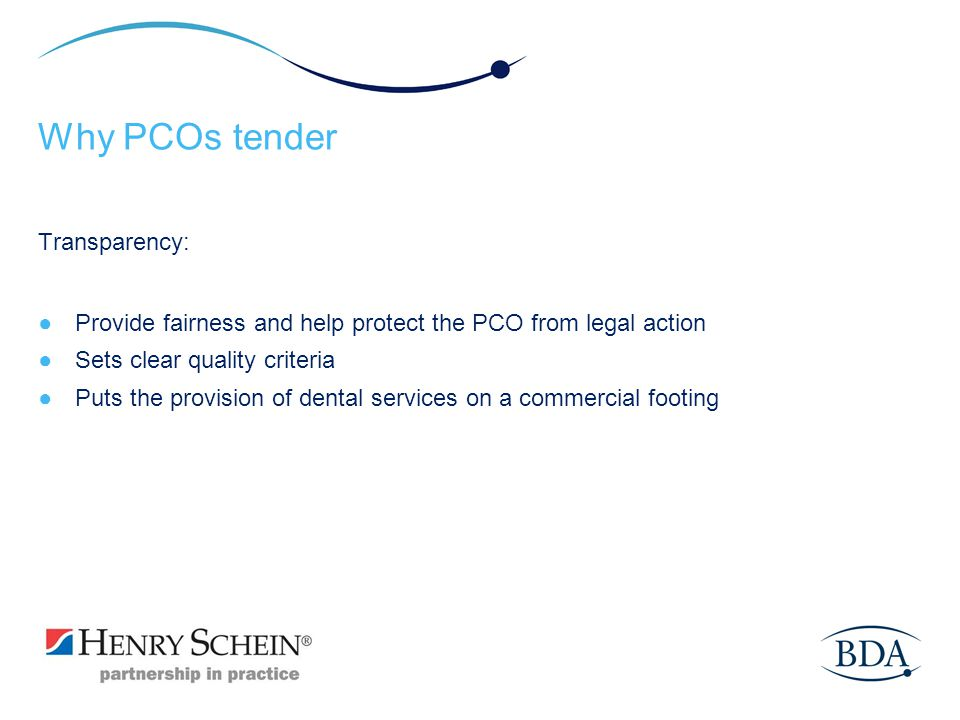 Why PCOs tender Transparency: