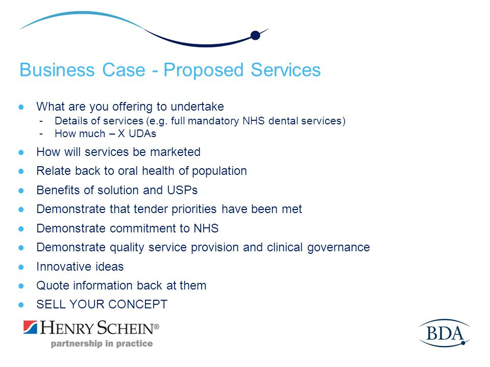 Business Case - Proposed Services