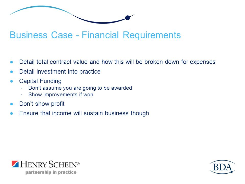 Business Case - Financial Requirements