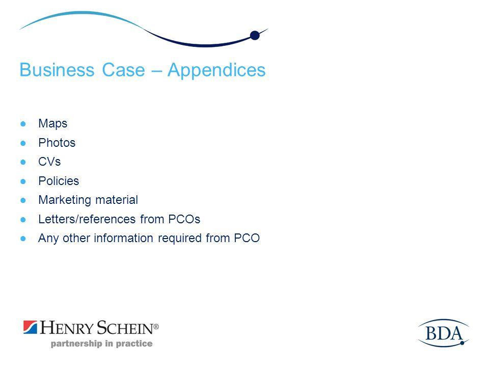 Business Case – Appendices