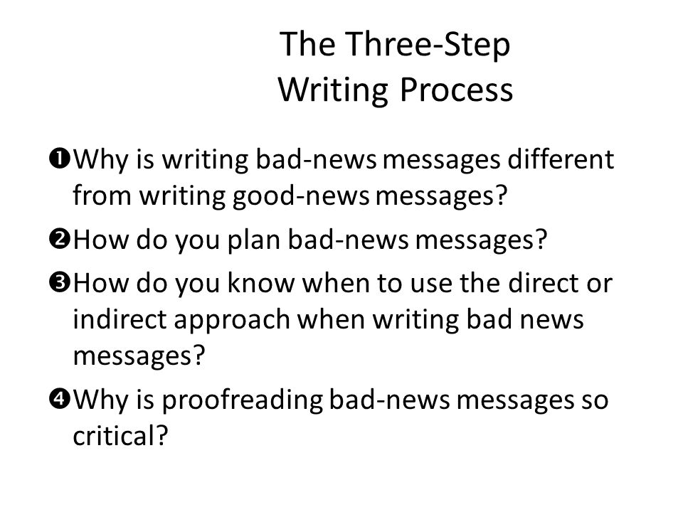 The Three-Step Writing Process