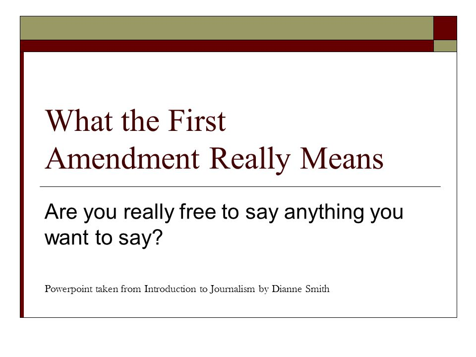 What the First Amendment Really Means