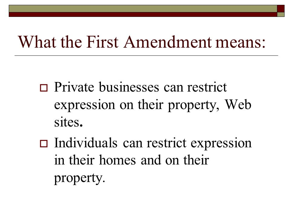 What the First Amendment means: