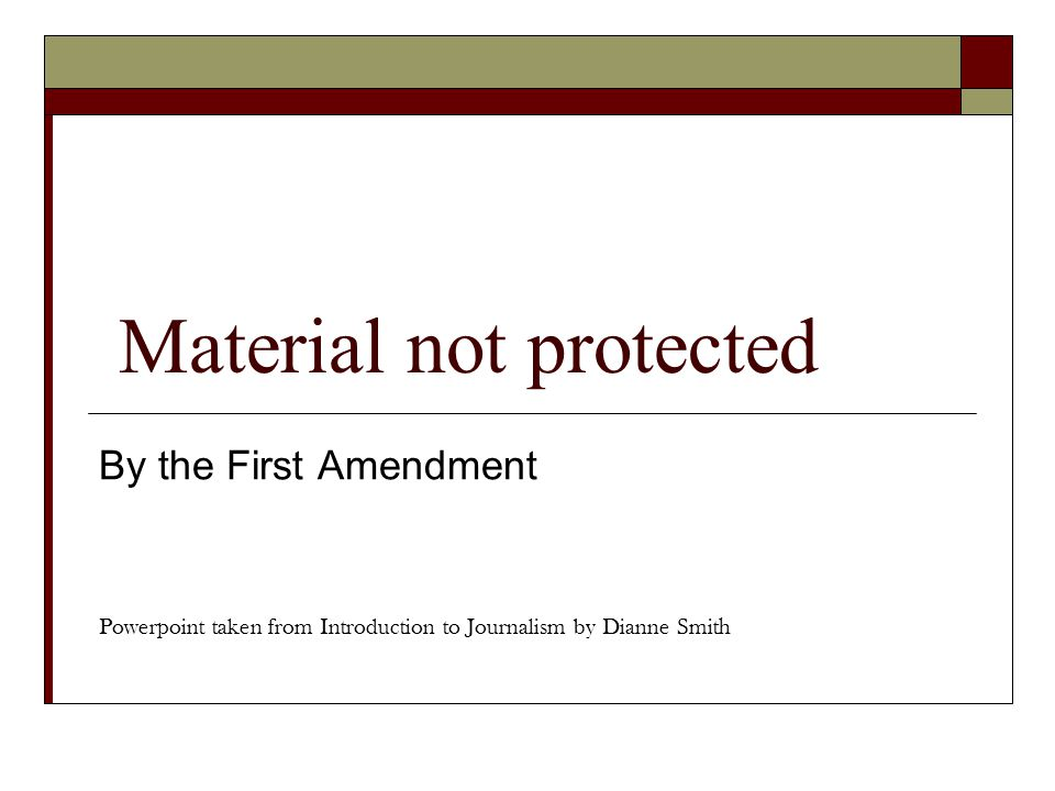 Material not protected