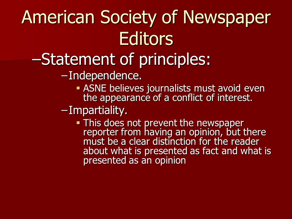 American Society of Newspaper Editors