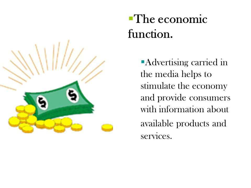 The economic function.
