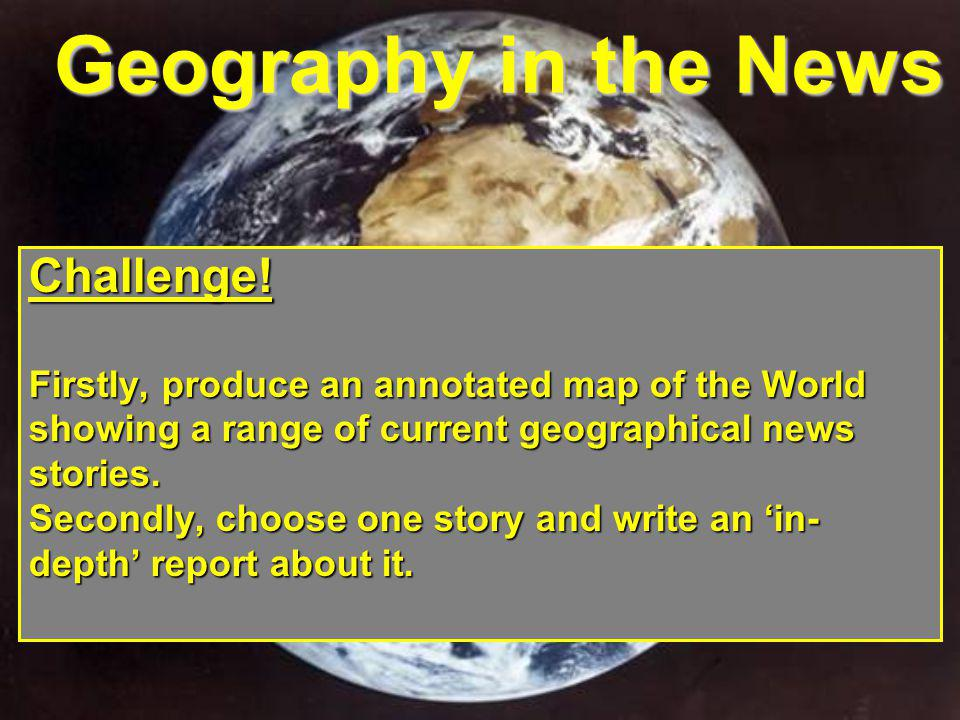 Geography in the News