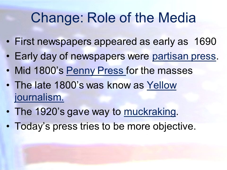 Change: Role of the Media