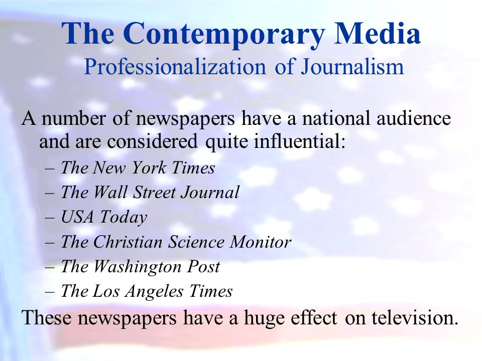 The Contemporary Media Professionalization of Journalism