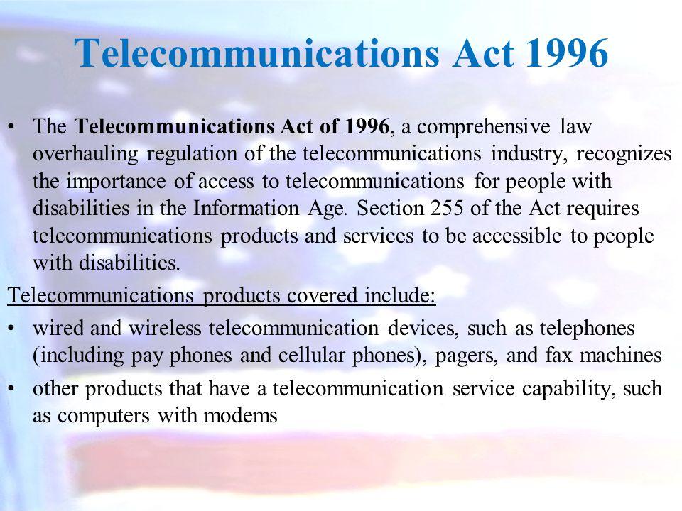 Telecommunications Act 1996