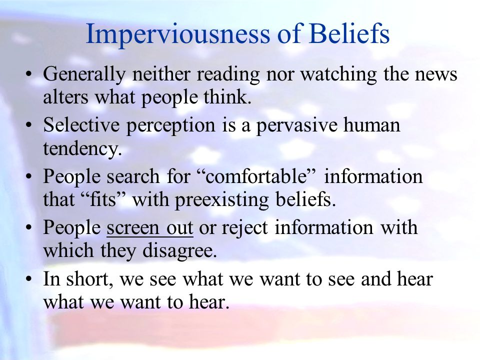 Imperviousness of Beliefs