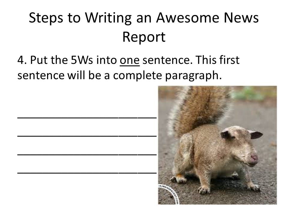 Steps to Writing an Awesome News Report