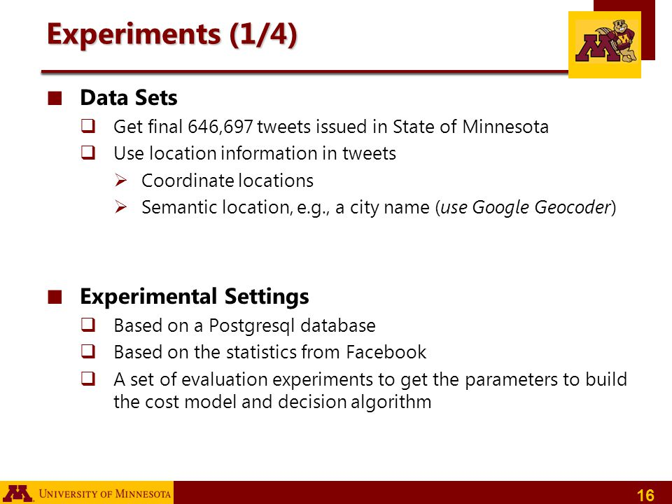 Experiments (1/4) Data Sets Experimental Settings