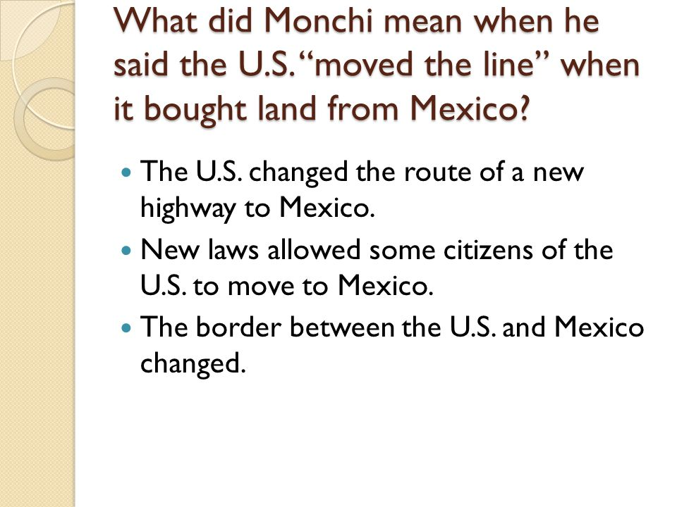 What did Monchi mean when he said the U. S