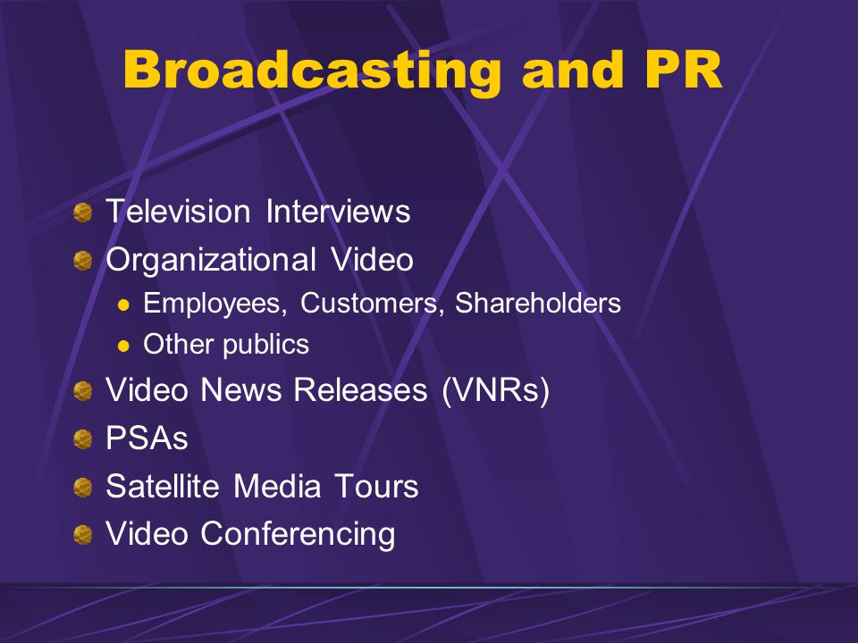 Broadcasting and PR Television Interviews Organizational Video