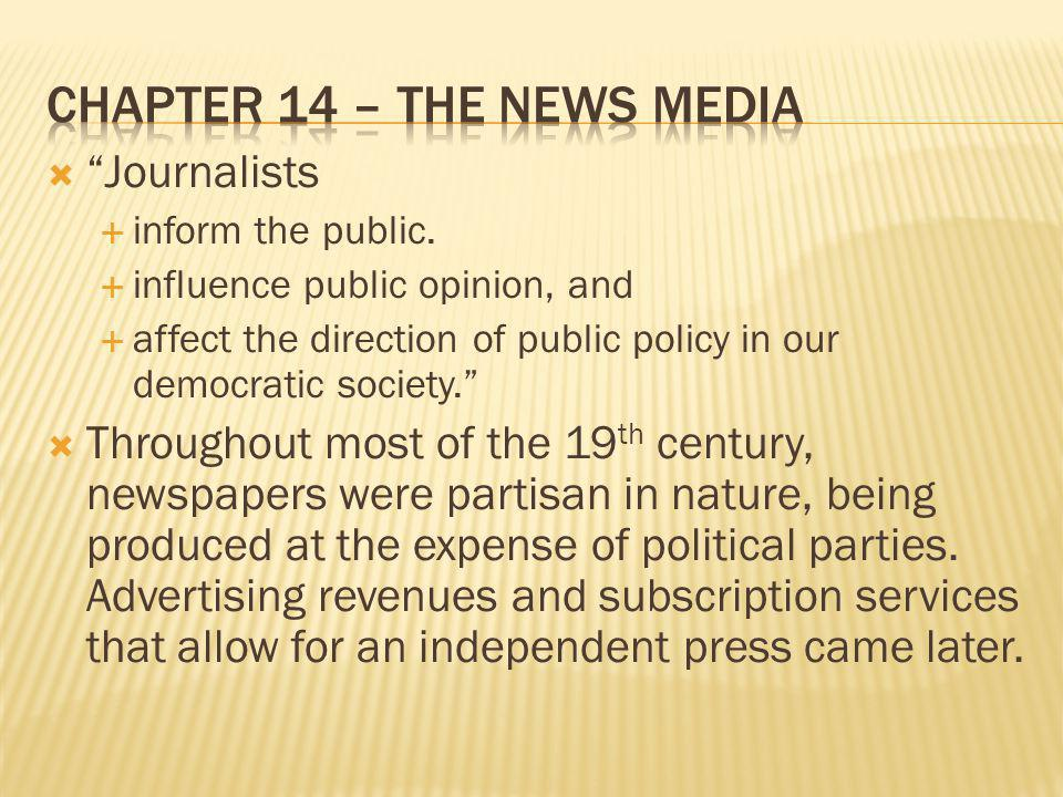 Chapter 14 – The News Media