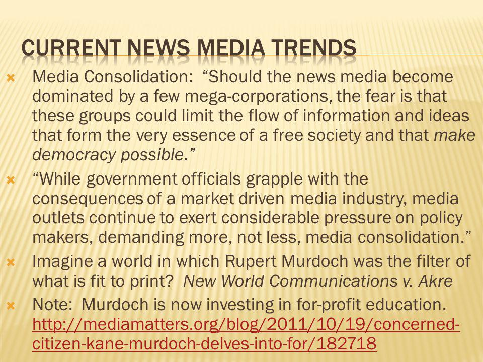 Current news media trends