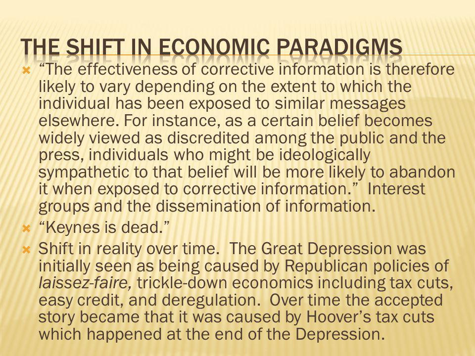 The shift in economic paradigms