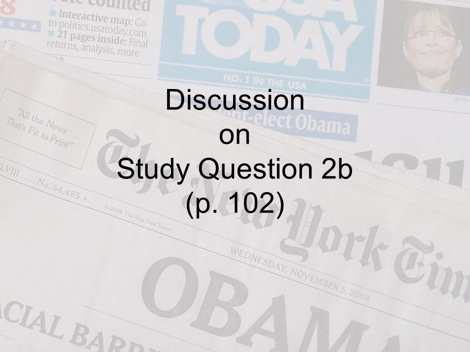 Discussion on Study Question 2b (p. 102)