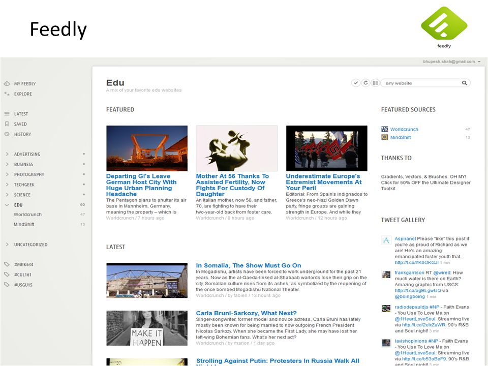 Feedly Bhupesh: LIVE DEMO