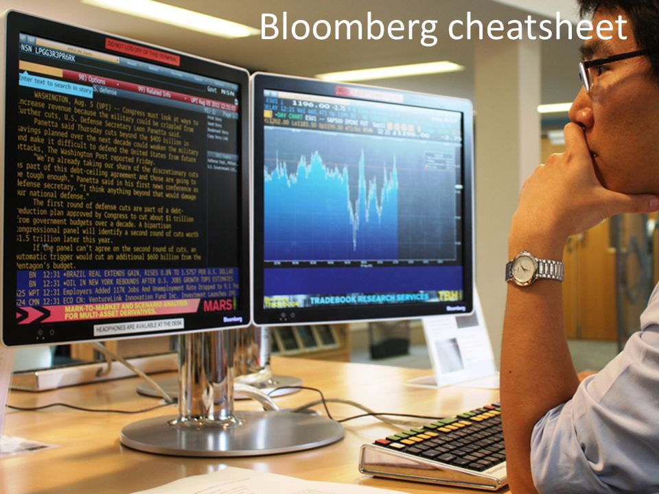 Bloomberg cheatsheet