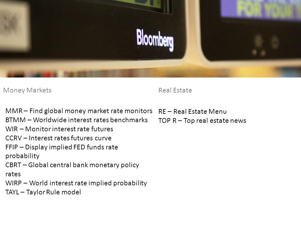 Money Markets Real Estate