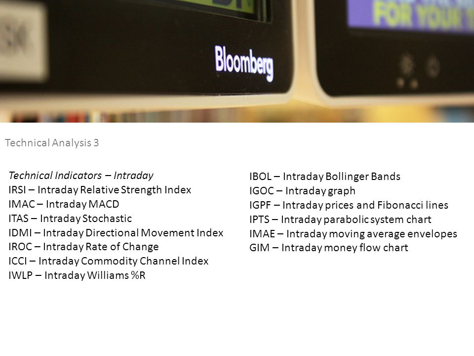 Technical Analysis 3 Technical Indicators – Intraday. IRSI – Intraday Relative Strength Index. IMAC – Intraday MACD.