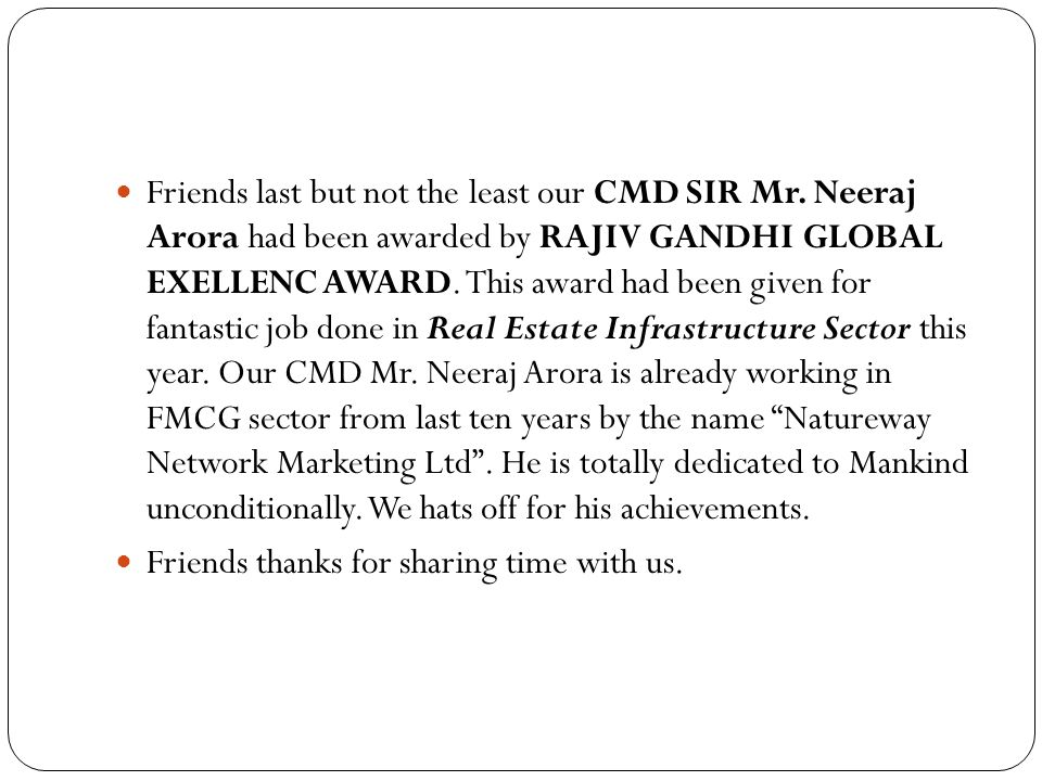 Friends last but not the least our CMD SIR Mr
