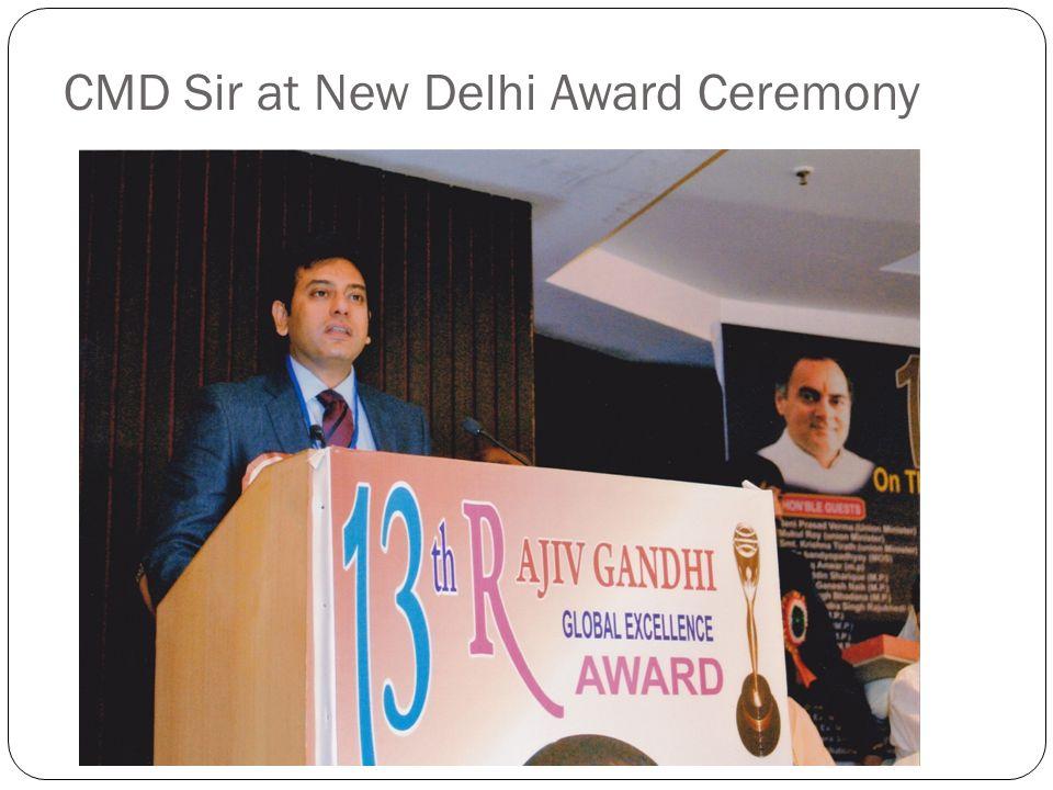 CMD Sir at New Delhi Award Ceremony